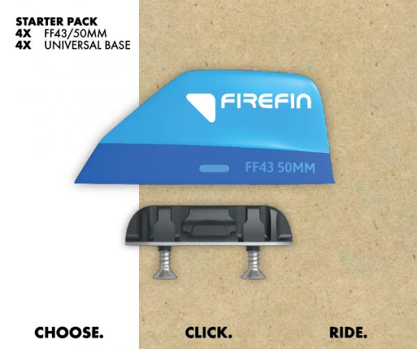 Firefin Starter Pack F43 / 50mm Kitesurf Finnen