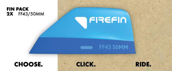 Firefin FF43 / 50mm 2-Fin-Pack Kitesurf Finne