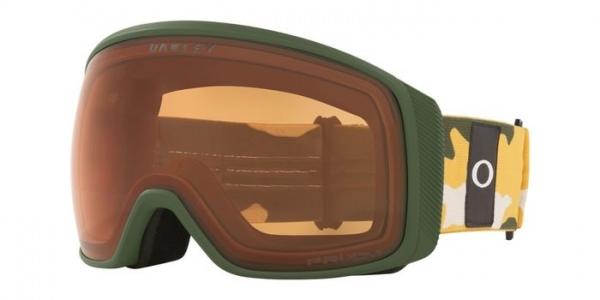 Oakley Flight Tracker L (Mustard/Dark/Camo) Ski Brille
