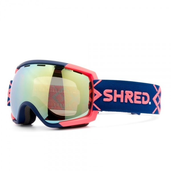 Shred RARIFY BIGSHOW NAVY/RUST CBL HERO MIRROR VLT 14% Ski Brille