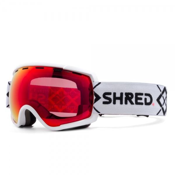 Shred RARIFY BIGSHOW WHITE CBL BLAST MIRROR VLT 20% Ski Brille
